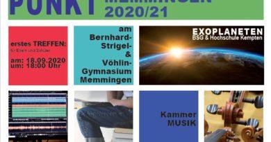 Begabungsstützpunkt Memmingen im Schuljahr 2020/2021